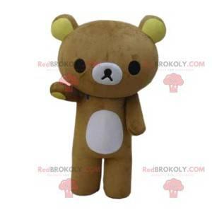 Roztomilý a smutný malý béžový maskot medvídka - Redbrokoly.com