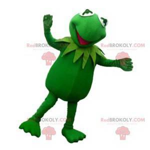 Sehr komisches fluoreszierendes grünes Froschmaskottchen -