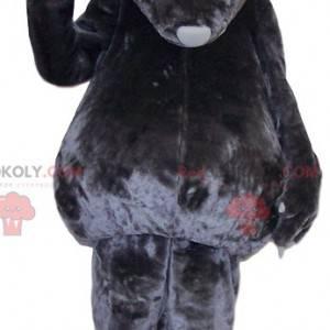 Šedý vačnatec maskot dotýká - Redbrokoly.com