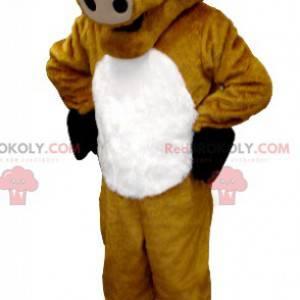 Giant buffalo bull brown cow mascot - Redbrokoly.com