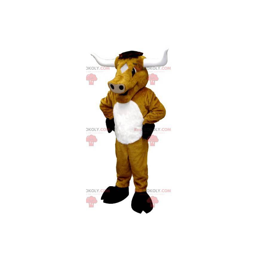 Riesiges Büffelbullenbraunes Kuhmaskottchen - Redbrokoly.com