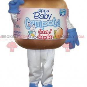 Mascotte van een potje compote voor baby's - Redbrokoly.com