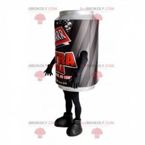Černá a šedá soda může maskot - Redbrokoly.com