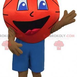 Maskot sportovního hráče s basketbalovou hlavou - Redbrokoly.com