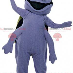 Mascot cucaracha púrpura gigante demasiado divertido -