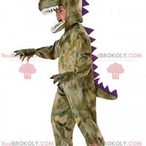 Maskot Tyrex s krásným fialovým hřebenem - Redbrokoly.com