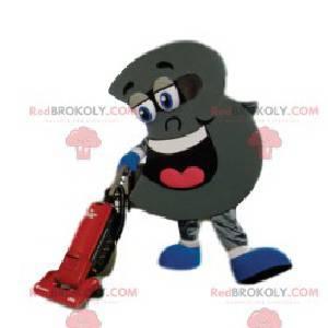 Maskottchen Figur 3 riesig und super lächelnd - Redbrokoly.com