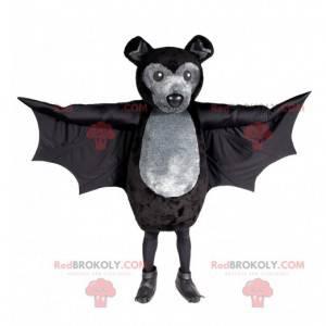 Šedý a černý netopýr maskot - Redbrokoly.com