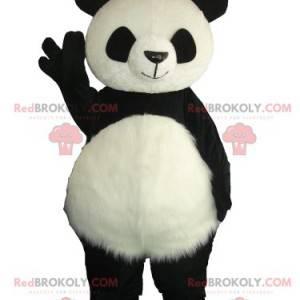 Mascota panda gigante todo feliz - Redbrokoly.com