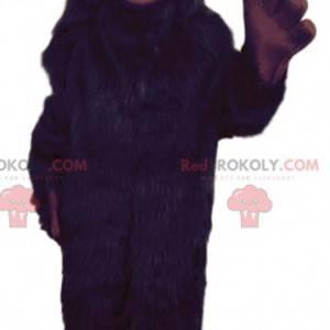 Sort behåret monster maskot - Redbrokoly.com
