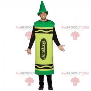 Giant green pencil mascot - Redbrokoly.com