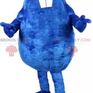Mascote castor azul original e engraçado - Redbrokoly.com
