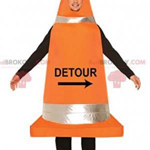 Maskotka człowieka w kształcie stożka drogowego - Redbrokoly.com