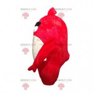 Flammender roter Vogel Maskottchen, aus dem Spiel Angry Birds -