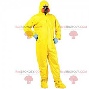 Protective yellow suit for men with gas mask - Redbrokoly.com