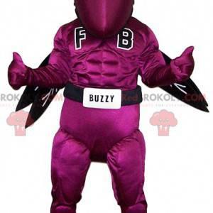 Originale e dinamica mascotte di vespa fucsia - Redbrokoly.com