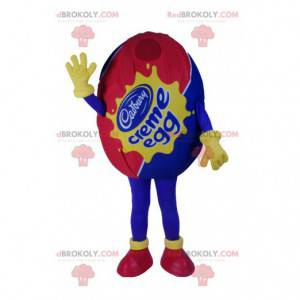 Maskot čokoládové vejce, modré a červené - Redbrokoly.com