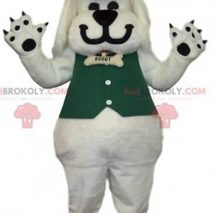 Maskot bílého psa a kovbojský styl - Redbrokoly.com