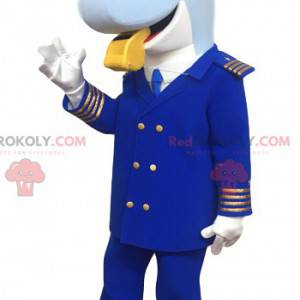 Dolfijnmascotte in kapiteinskostuum - Redbrokoly.com