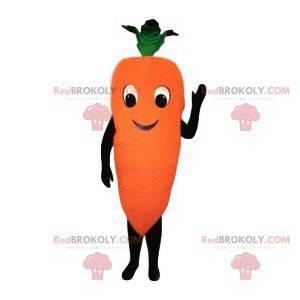Mascote cenoura gigante e sorridente - Redbrokoly.com