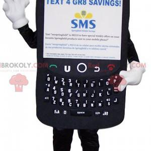 Giant black cell phone mascot - Redbrokoly.com