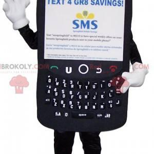 Gigantisk svart mobiltelefon maskot - Redbrokoly.com