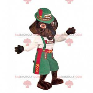 Fox mascot in traditional Swiss dress - Redbrokoly.com