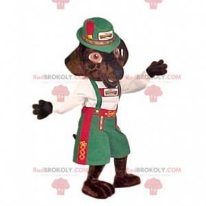 Mascote Fox em vestido tradicional suíço - Redbrokoly.com