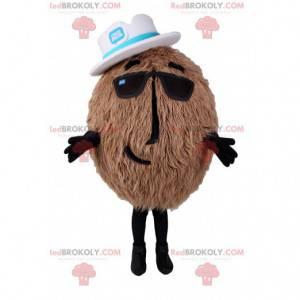 Kokosový maskot s bílým kloboukem - Redbrokoly.com