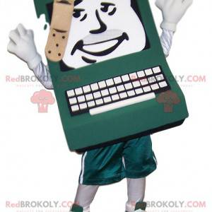 Computer mascot with a bandage on his head - Redbrokoly.com