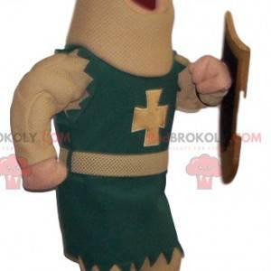 Mascotte del cavaliere con il suo scudo - Redbrokoly.com