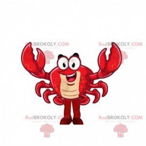 Meget sjov rød krabbe maskot - Redbrokoly.com