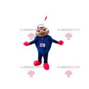 Mascote formiga azul e coquete - Redbrokoly.com