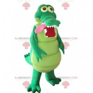 Mascote crocodilo verde muito divertido - Redbrokoly.com