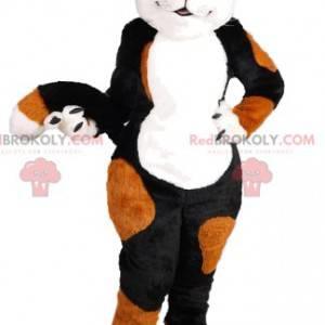 Mascote gato vermelho e preto muito fofo - Redbrokoly.com