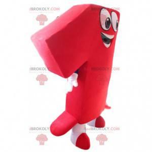 Very smiling red number 1 mascot - Redbrokoly.com
