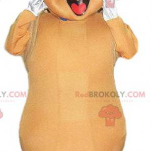 Adorável mascote de inseto bege - Redbrokoly.com