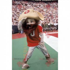 Bearded cowboy mascot in sportswear - Redbrokoly.com