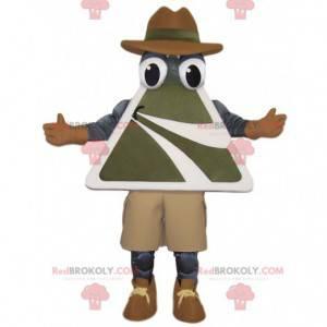 Maskot muž s dopravní značkou - Redbrokoly.com