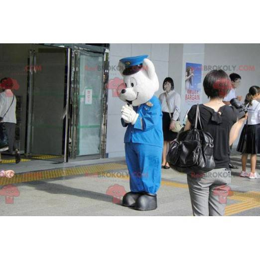 Maskot ledního medvěda v policejní uniformě - Redbrokoly.com