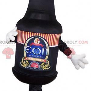 Black beer bottle mascot - Redbrokoly.com