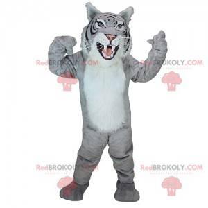 Majestic and fierce gray tiger mascot - Redbrokoly.com