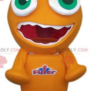 Mascote pequeno monstro laranja engraçado - Redbrokoly.com