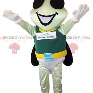 Little fly mascot with his hero costume - Redbrokoly.com