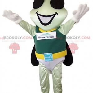 Mascote de mosca com sua fantasia de herói - Redbrokoly.com