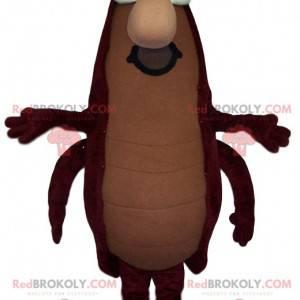 Mascote da barata marrom com bigode - Redbrokoly.com