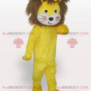 Maskot žluté a hnědé lvíče měkké a chlupaté - Redbrokoly.com