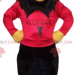 Maskot orel skalní s červeným dresem na podporu - Redbrokoly.com