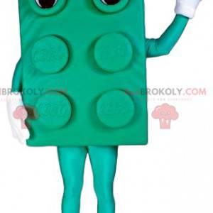 Zelený blok maskot s velkýma očima - Redbrokoly.com