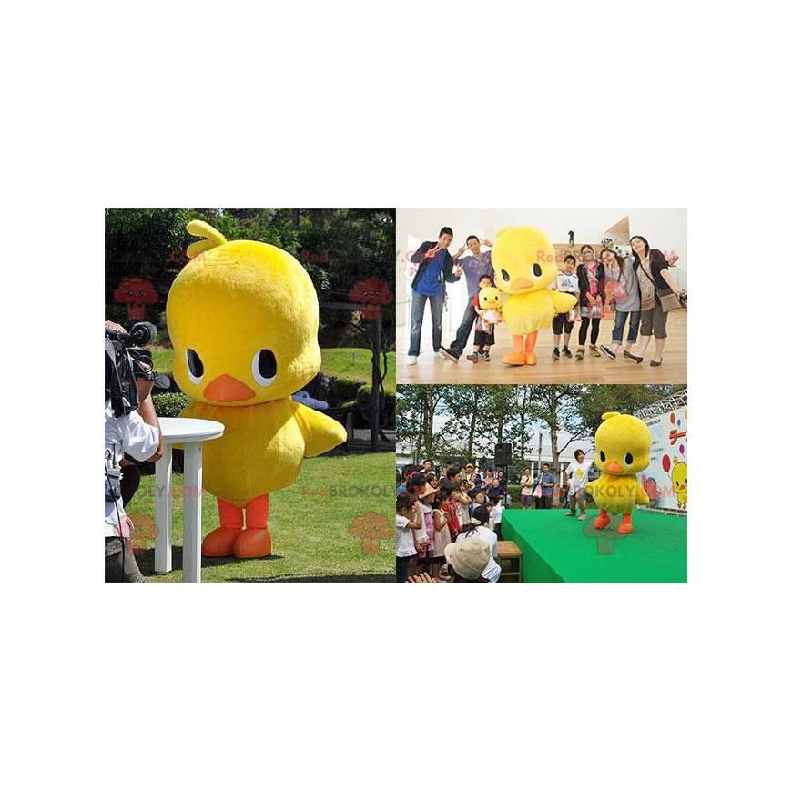 Velký maskot žluté a oranžové kachny kuřátko - Redbrokoly.com